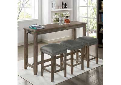 Image for Caerleon Gray 4 Piece Counter Height Dining Set