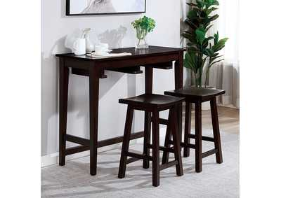 Image for Elinor Espresso Bar Table Set