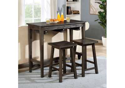 Image for Elinor Gray Bar Table Set