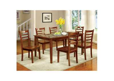 Fordville I Antique Oak 7 Piece. Dining Set