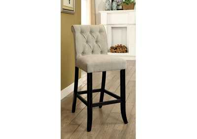Sania Beige Bar Chair [Set of 2],Furniture of America