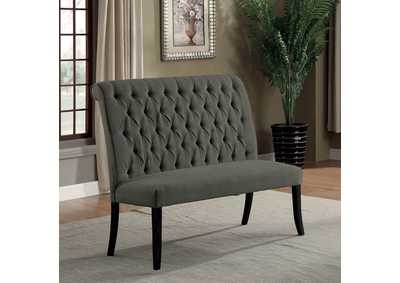 Image for Mashall Gray Loveseat Bench
