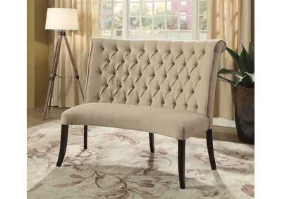Image for Nerissa Antique Black Round Loveseat Bench