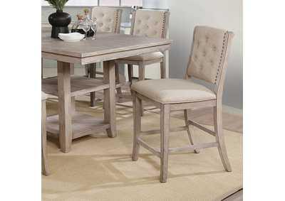 Ledyard Rustic Natural Tone Counter Height Side Chair [Set of 2]
