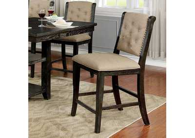 Patience Dark Walnut Counter Height Side Chair [Set of 2],Furniture of America