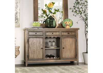 Patience Rustic Natural Tone Server,Furniture of America