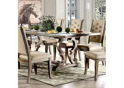 Patience Rustic Natural Tone Dining Table,Furniture of America