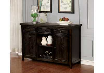 Patience Dark Walnut Server,Furniture of America