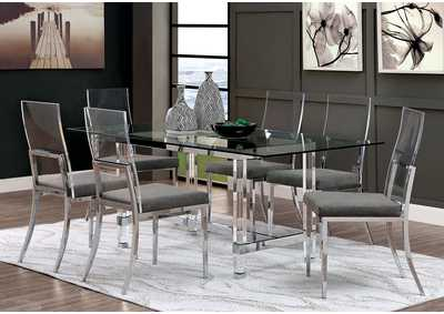 Casper Chrome Dining Table,Furniture of America