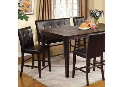 Edgemont II Wire Brushed Dark Oak Counter Table,Furniture of America