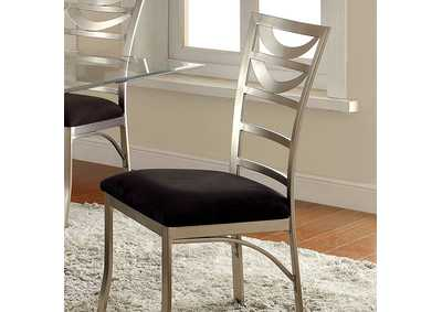 Image for Roxo Silver and Black Side Chair (Set of 2)