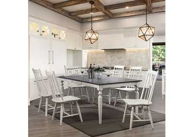 Ann Lee Antique White Dining Table