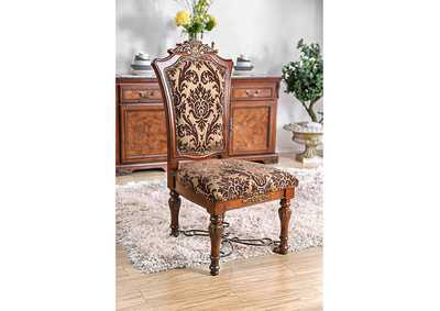 Lucie Brown Cherry Side Chair [Set of 2],Furniture of America