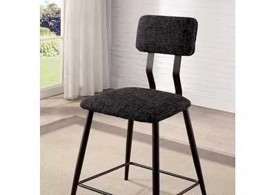 Image for Dicarda Black Counter Height Chair [Set of 2]