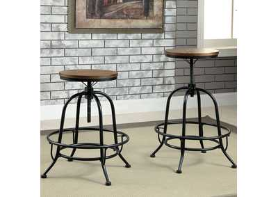 Image for Silvia Medium Oak Counter Stool (Set of 2)