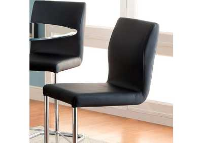 Image for Lodia II Black Counter Height Chair (Set of 2)