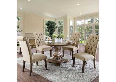 Nerissa Antique Oak Table,Furniture of America
