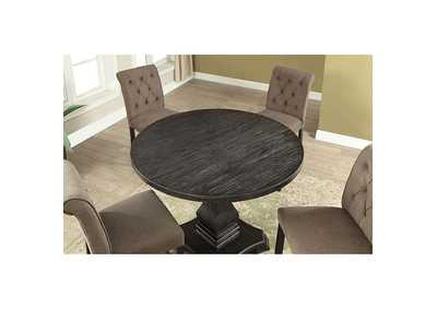 Nerissa Antique Black Round Counter Height Table,Furniture of America