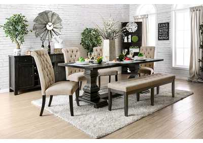 Nerissa Antique Black Dining Table