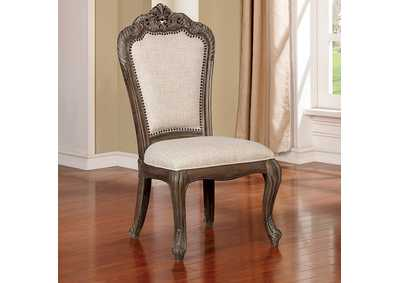 Charmaine Antique Brushed Gray Side Chair [Set of 2]