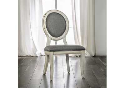 Kathryn Antique White Side Chair (Set of 2),Furniture of America