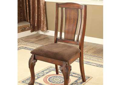 Johannesburg Brown Cherry Side Chair [Set of 2],Furniture of America