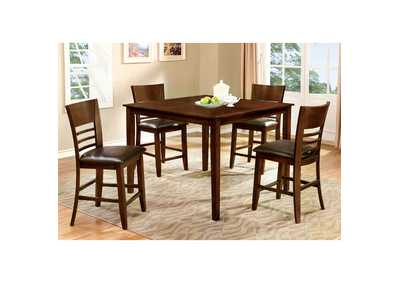 Hillsview Brown Cherry Dining Table Set,Furniture of America