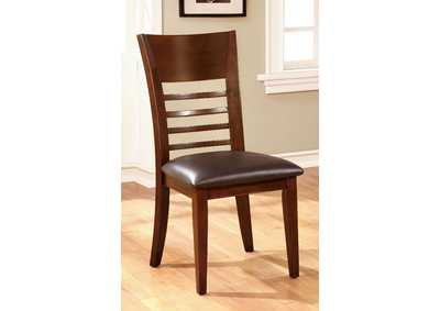 Hillsview Brown Cherry Side Chair [Set of 2],Furniture of America