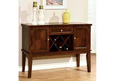 Hillsview Brown Cherry Server