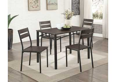 Westport Antique Brown/Black 5 Piece. Dining Set