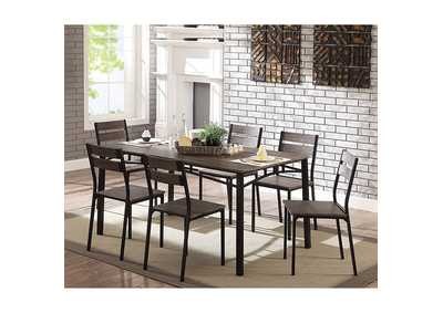 Westport Antique Brown 7 Piece Dining Table Set