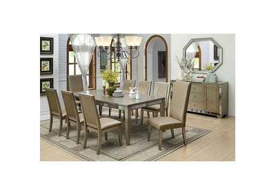 Echo Antique Gold Dining Table w/18