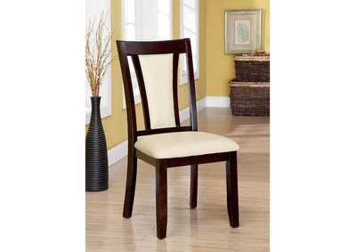 Image for Brent Cherry & Ivory Side Chair (Set of 2)