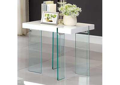 Thorold White End Table