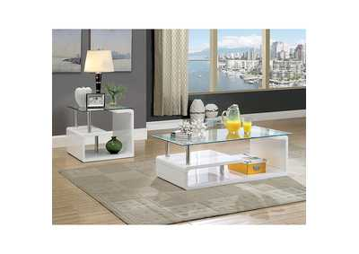 Torkel White Coffee Table,Furniture of America