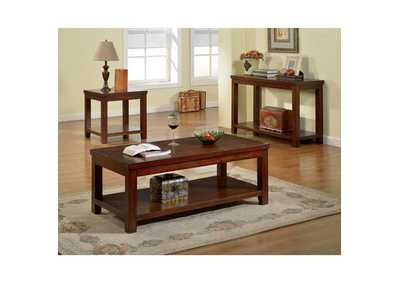 Image for Estell Dark Cherry End Table w/Open Shelf