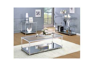 Ludvig Chrome End Table