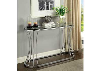 Esme Chrome Sofa Table,Furniture of America