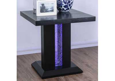 Tobias Black End Table,Furniture of America