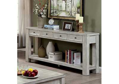 Meadow Antique White Sofa Table,Furniture of America