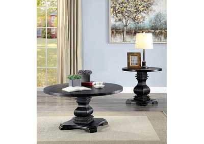 Isabell Antique Black Coffee Table,Furniture of America