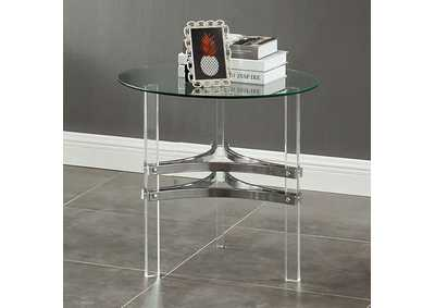Tirso Chrome End Table