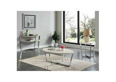 Madisyn White End Table,Furniture of America