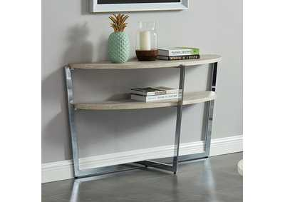 Madisyn White Sofa Table,Furniture of America