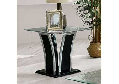 Staten Glossy Black End Table