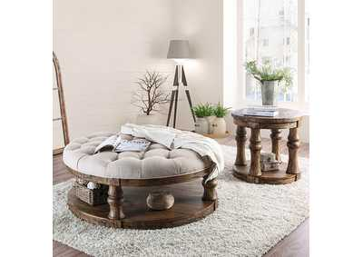 Mika Antique Oak Coffee Table,Furniture of America