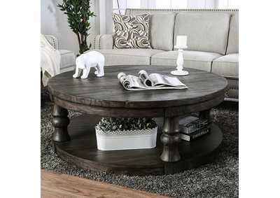 Mika Antique Gray Coffee Table,Furniture of America