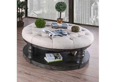 Mika Antique Gray Coffee Table