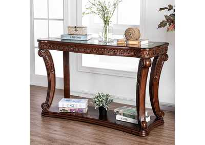 Walworth Dark Oak Sofa Table,Furniture of America
