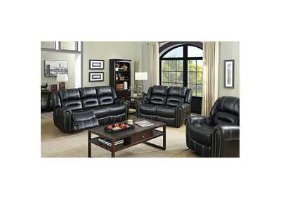 Image for Frederick Black Glider Recliner